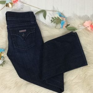 Hudson signature flap pocket flare dark jeans 26